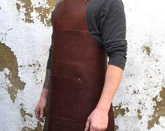 Genuine leather apron ,gift apron, barber apron, bartender apron, leather apron, butcher apron, barista apron, chefs apron, fathers day gift