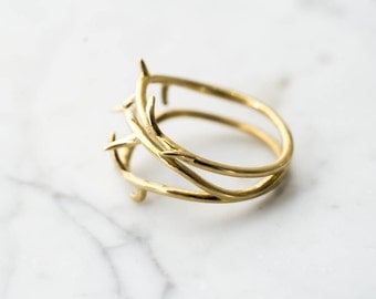 Thorn Ring No. 2- Delicate Branch Jewelry