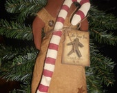 Candy cane ginger,gingerbread girl,primitive christmas,FAAP,OFG