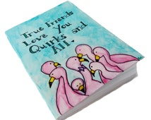 Small Flamingo Notebook -  Cute Stationery -  Pink Flamingo Gifts For Her -  Flamingo Journal - Tropical Pocket Notebook - Tropical Journal