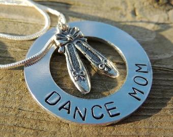 Personalized Hand Stamped DANCE MOM necklace custom jewelry Sports jewelry