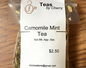 Chamomile mint herbal tea
