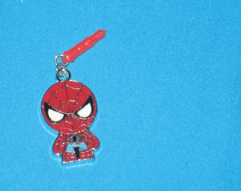 Spiderman Cell Phone Dust Plug Charm Attached