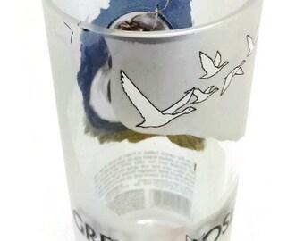 Upcycled Grey Goose Vase