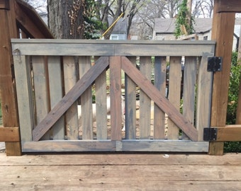 Barn Door Baby Gate, Outdoor Deck Gate, Rustic Weathered Distressed Custom Barn Door Outdoor door custom baby gate