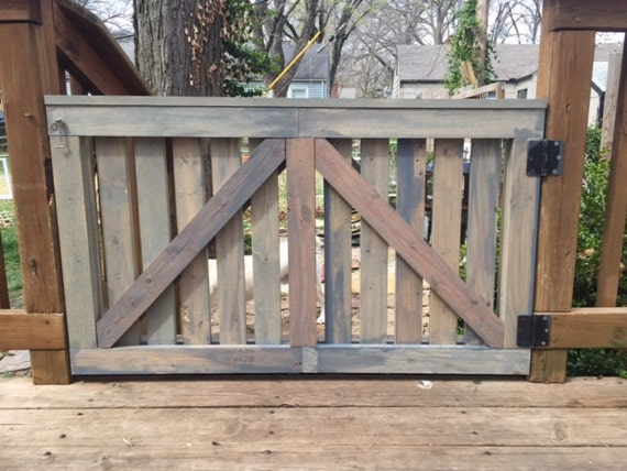 Barn Door Baby Gate Outdoor Deck Gate Rustic Weathered
