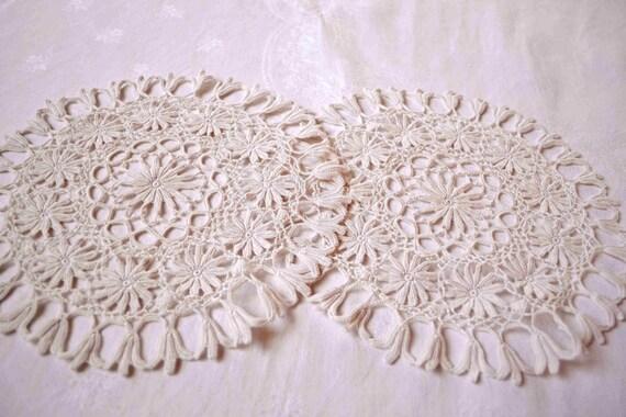 Napperons anciens au crochet guipure d 39 irlande dentelle - Napperon dentelle crochet ...