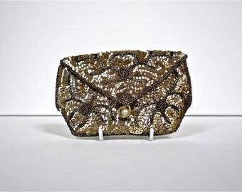 1930s Gold Sequin Bag