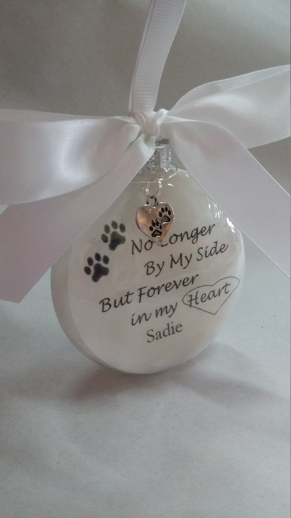 In Memory Pet Memorial Ornament Remembrance Amp Pawprint Charm