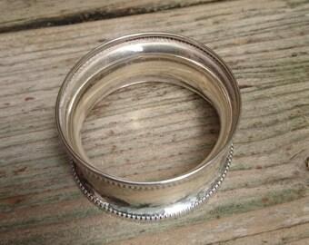 Vintage sterling silver napkin ring