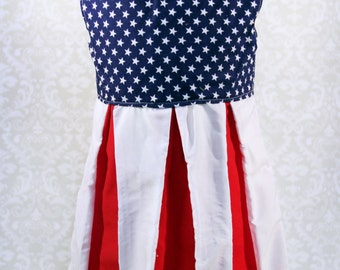 American Flag Pleat Dress