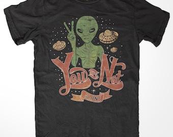 Alien - Alien Shirt - Alien Tee - Alien T-shirt - Alien T Shirt - Alien T-shirt - Alien Head shirt - Alien Heads shirt - Peace - Not Alone