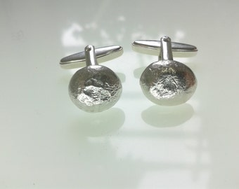 Cufflinks, recycled silver, reticultated, made in Cologne