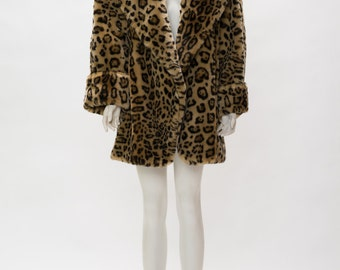 faux leopard coat made in italy vintage 1950s • Revival Vintage Boutique