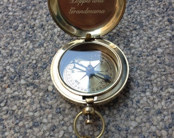 wedding gift, engraved compass, working compass, groomsmen gift, mothers day, fathers day