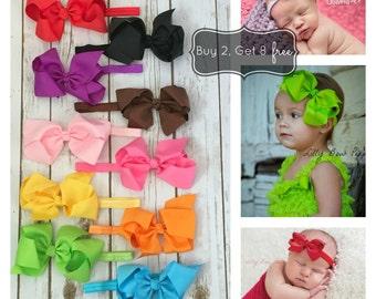8 FREE HEADBANDS, Baby Headband , Newborn Headband, Hair Bows, Preemie,Baby Girl,Infant,Headband,Baby Headbands,Wedding,Baptism,big headband