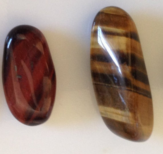 Tigers Eye Collection 4 Tumbled Crystals Gold & Red Stones