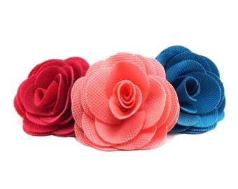 Large Rose  -  Dog Collar Flower | 8 Colours Flower Collar Attachment