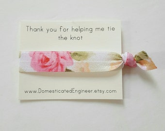 Bridesmaids Hair Ties, Favors, Thank You Hair Tie Sets
