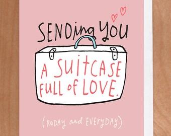 SUITCASE LOVE A2 Card (2-32C)