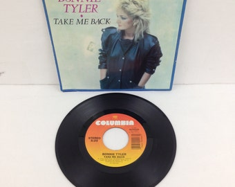 Bonnie Tyler Take Me Back & Getting So Excited 45 rpm Record and Picture Sleeve 1983 CBS Columbia Records 38-04246