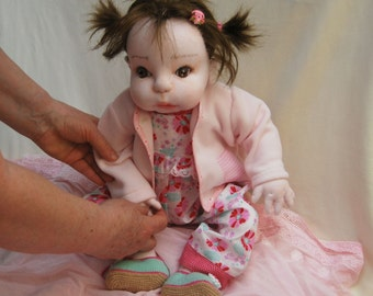 "OLIVIA 20"" Waldorf Doll, Cloth Doll, OOAK Doll, Collectible Doll; Soft Doll; Art Doll; Baby Doll"