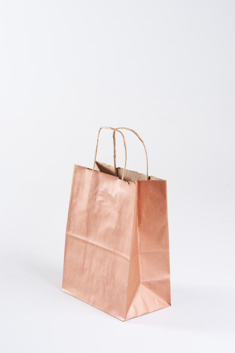 75 Rose Gold Gift Bags With Handles For Wedding Guests