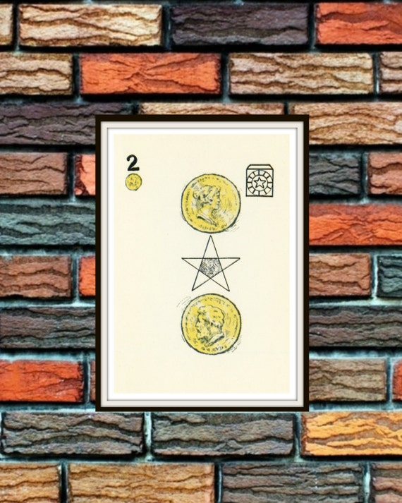 Two Of Pentacles Knapp-Hall French Tarot By WolfgangLovesMabel
