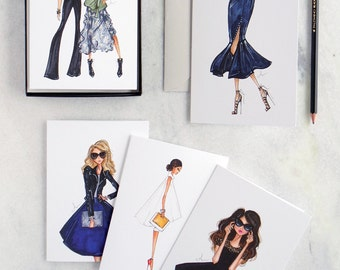 Fashion Illustration Note Cards, Boxed Set