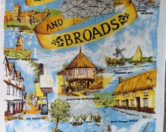 Norfolk Broads Tea Towel - FREE POSTAGE