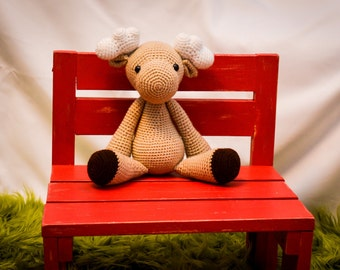 Moose Tan Crocheted Stuffed Animal/Toy (Made to Order)