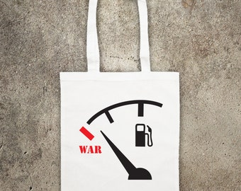No BLOOD for OIL anti war tote shopper bag shopping protest opposition to war in Iraq