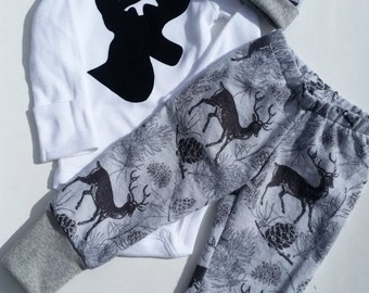 Baby Boy Coming Home Outfit, Baby Boy Pant Set, Deer, Antler, Elk, Coming Home Outfit, Baby Coming Home Outfit, Little Hunter, Daddys Boy
