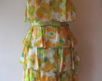 1960s Tiered Party Dress