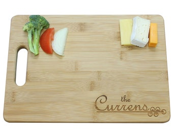 Gifts for Couples, Engraved Cutting Board, Custom Cutting Board, Personalized Bamboo Cutting Board, Personalized Wedding Gift Cutting Board