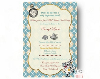 Mad Hatter Tea Party Invitation // Mad Hatter Bridal Shower Invitation // Printable Bridal Tea Party // Mad Hatter Tea Party Bridal Shower
