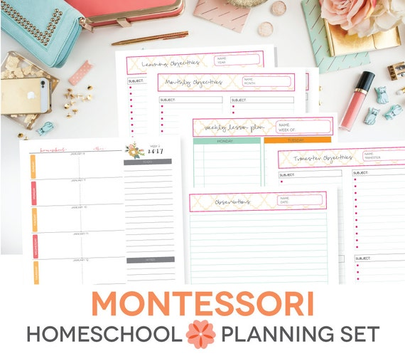 Items similar to MONTESSORI Homeschool Printable Lesson ...