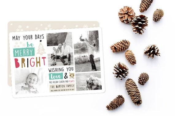 Custom Holiday Card Template (Digital Design file) \ printable
