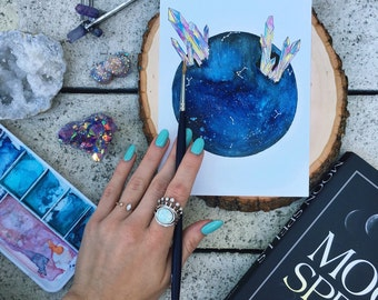 """Watercolor """"Her Constellations"""""""