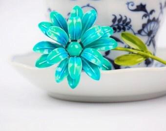 Vintage Enamel Flower Brooch - Flower Brooch - Vintage Brooch - Enamel Brooch - Enamel Flower - Enamel Flower Brooch - Enamel Flower Pin