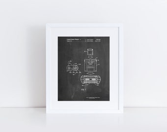 Super Nintendo Console Remote and Cartridge Patent Poster, SNES, Game Room Decor, Gamer Gift, Technology Art, Nintendo Gifts, PP1072