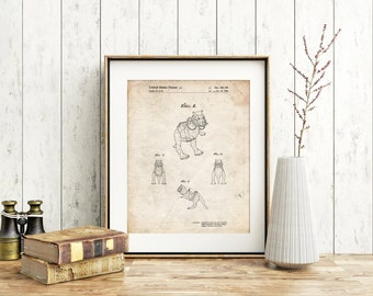 Star Wars TaunTaun 4 image Patent Poster, Star Wars Characters, Starwars Decor, Movie Wall Art, Star Wars Gifts, PP1058