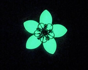 Glow in the Dark Hair Flower Clip