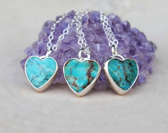 Turquoise Heart Necklace - Turquoise Heart Jewelry