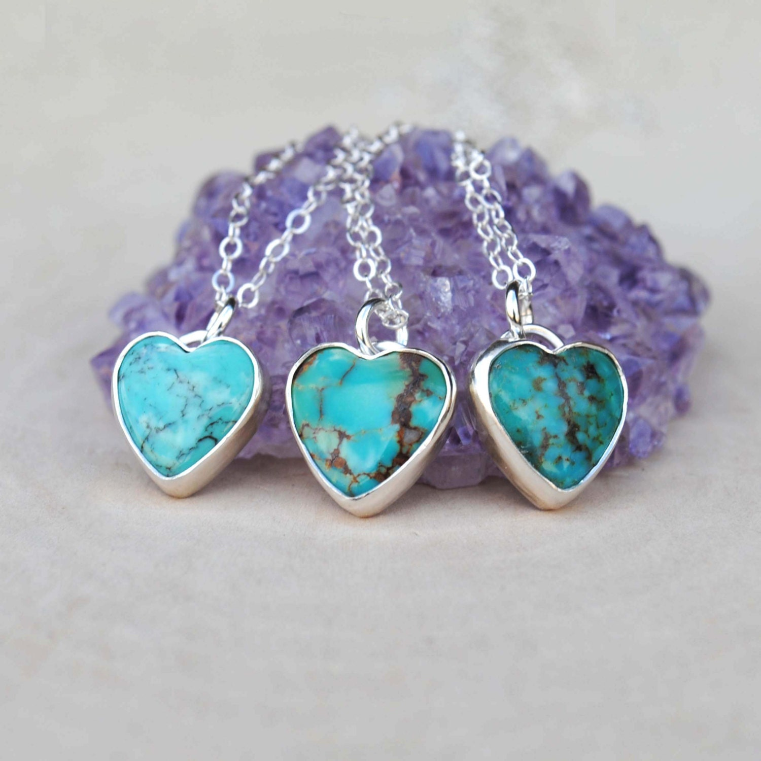 Turquoise Heart Necklace Turquoise Heart Jewelry