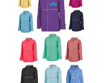 SALE X-Small Monogrammed Rain Jacket / Customized / Personalized / Monogrammed Rain Coat