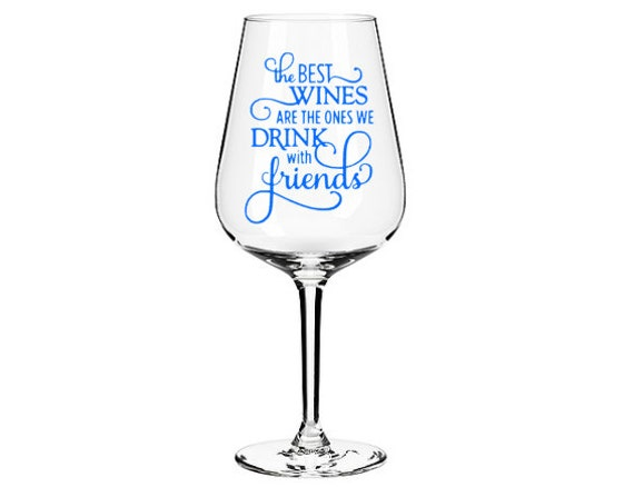 Items Similar To Wine Glass Sticker Vinyl Decal For