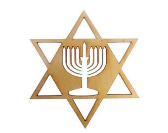 Star of David Ornament - Menorah Hanukkah Decoration - Hanukkah Ornaments - Menorah Ornaments - Hanukkah Gift ideas - Hanukkah Ornament