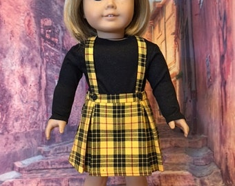 Plaid Skirt Set fits American Girl Doll and 18 inch dolls