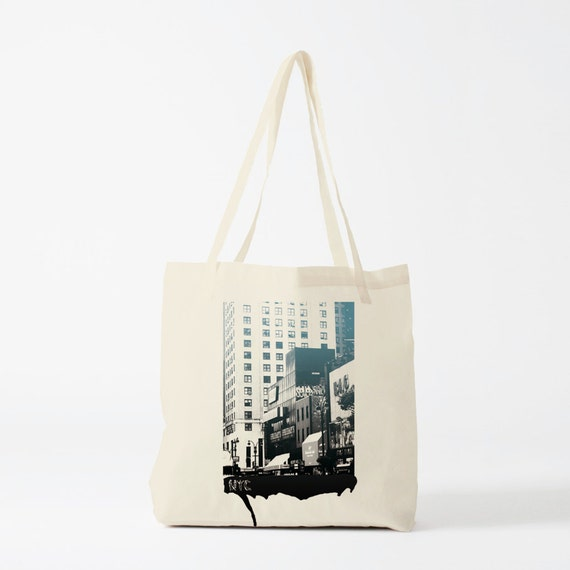 Tote bag New York Buildings, canvas bag, groceries bag, shopping bag, cotton bag, novelty gift for coworker, urban art, graffiti bag.